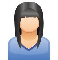 黒髪女性さん